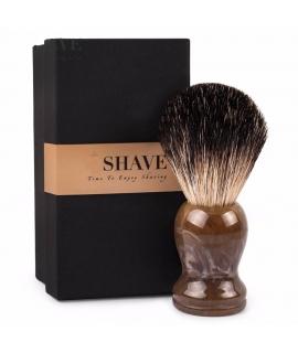 Blaireau de rasage traditionnel, en vrais poils naturels de blaireau